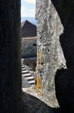 Город замка Orem средневековый, Португалия Стоковые Фотографии RF