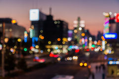 Город запачканный в twilight времени для предпосылки Стоковая Фотография