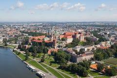 Город заполированности замка Wawel Кракова Стоковые Фото