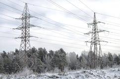 Город зимы в восточной Европе Стоковая Фотография