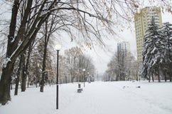 Город зимы Стоковое фото RF