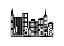 Город значка Стоковая Фотография