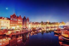 город здания выравнивая высокий подъем moscow Выделять здания и улицы Амстердам, Стоковые Изображения