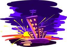 город здания выравнивая высокий подъем moscow Стоковая Фотография RF