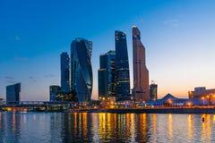 город здания выравнивая высокий подъем moscow Стоковые Фотографии RF
