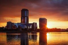 город здания выравнивая высокий подъем moscow Стоковые Фото