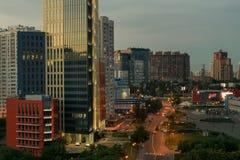 город здания выравнивая высокий подъем moscow Стоковое Изображение