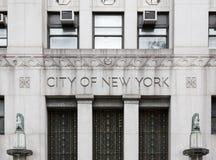 Город здания правительства Нью-Йорка стоковое изображение