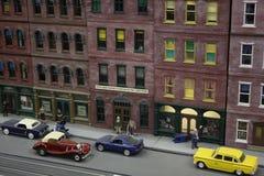 Город игрушки модельный городской Стоковое фото RF