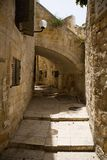 город Иерусалим переулка старый Стоковое Изображение RF