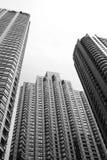 город изолированный над небоскребами белыми Стоковое фото RF