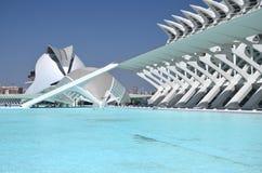 Город искусств и наук в Валенсии, Испании Стоковые Фотографии RF