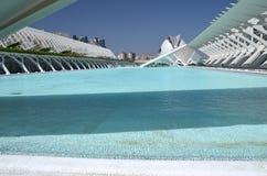 Город искусств и наук в Валенсии, Испании Стоковые Фото