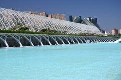 Город искусств и наук в Валенсии, Испании Стоковые Изображения