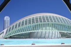 Город искусств и наук в Валенсии, Испании Стоковая Фотография RF