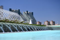 Город искусств и наук в Валенсии, Испании Стоковое Фото