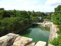 Городища традиционного японского замка в Киото Стоковое Изображение