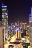 Город и береговая линия рая серферов на ноче Стоковые Фото