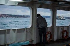 Город и пароход Стамбула Стоковые Фотографии RF
