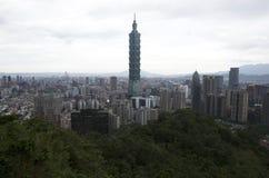 Город и 101 Тайбэя Стоковое Изображение RF
