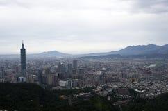 Город и 101 Тайбэя Стоковое фото RF