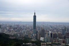 Город и 101 Тайбэя Стоковые Изображения RF