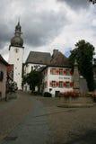 Город и церковь Арнсберга старые Стоковые Изображения