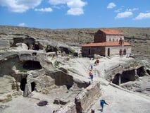 Город и церковь пещеры Upliscikhe в Georgia Стоковое Изображение