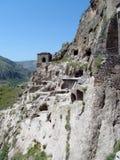 Город и церковь пещеры Vardzia в Georgia Стоковые Фото