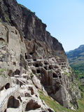 Город и церковь пещеры Vardzia в Georgia Стоковое Фото