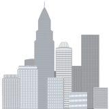 Город, иллюстрация вектора Стоковая Фотография RF
