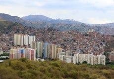 Город Каракаса Столица Венесуэлы Стоковая Фотография