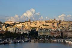 Город Кальяри, Сардинии, Италии Стоковая Фотография RF