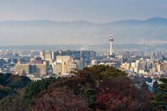 Город Киото с сезоном осени в Японии Стоковое Изображение