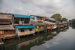 Городки хибарки Бангкока Стоковые Изображения