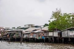Городки хибарки Бангкока Стоковые Изображения RF