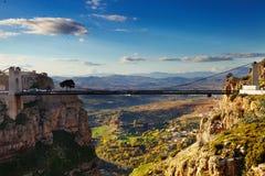Город Константина, Алжира Стоковая Фотография