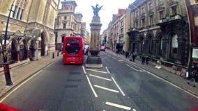 Город Лондона, взгляда от шины двойной палуба акции видеоматериалы