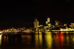 Город Лондона ночи Стоковая Фотография