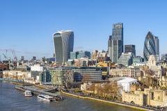 Город Лондона, от моста башни стоковые изображения rf