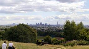 Город Лондона от полей гребня парламента Стоковые Изображения