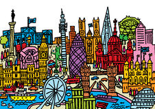 Город Лондона Иллюстрация штока