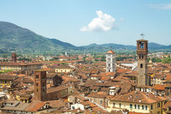 Город Лукки в Тоскане Стоковое Изображение