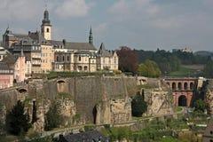 Город Люксембурга стоковые фотографии rf