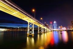 Город Макао на ноче стоковые изображения rf