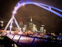 Город Мельбурна и река yarra Стоковое Изображение