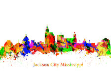Город Миссиссипи Джексона Стоковое Изображение