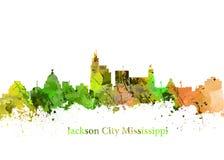 Город Миссиссипи Джексона Стоковая Фотография