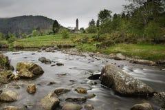 Город монаха Glendalough Стоковая Фотография
