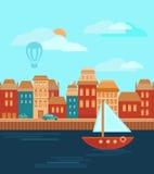 Город морем Стоковое Фото